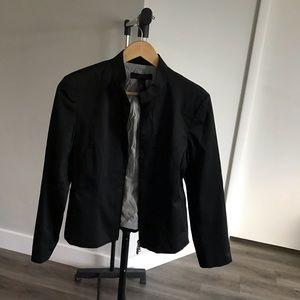 The Limited Women Stretch Zipper Blazer Jacket